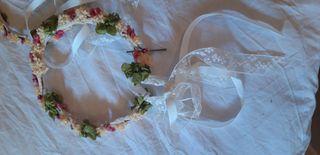Preciosas coronas de flores secas