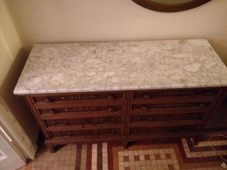 Cómoda repisa mármol estilo clásico