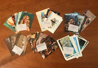 Varias colecciones de postales antiguas