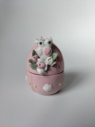 Joyero Huevo porcelana pequeño