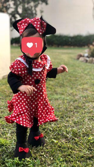 Disfraz bebé Minnie Mouse