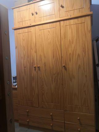 Conjunto mueble rustico