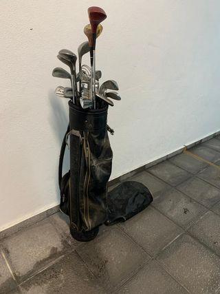 palos de golf con bolso