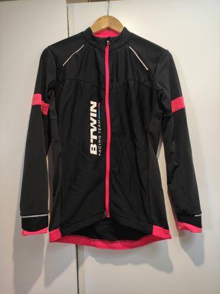 btwin maillot 900 largo ciclismo mujer talla M