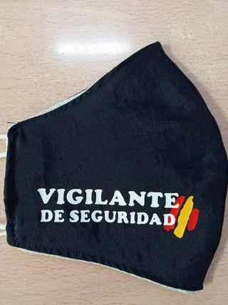 mascarilla vigilante de seguridad de tela