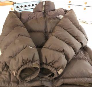 brown northface nuptse 700 puffer jacket