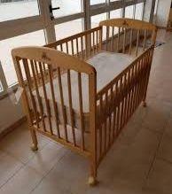 cuna bebe de madera