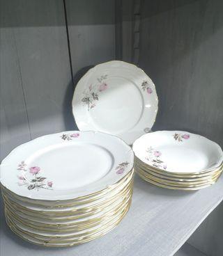 Platos de porcelana francesa