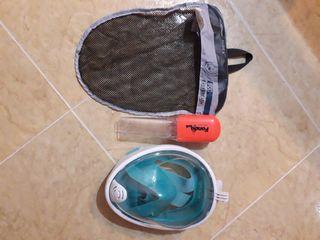 mascara de snorkel fondo sub