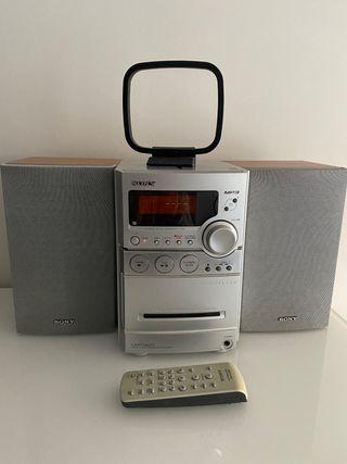 Hifi con cd y cassette sony