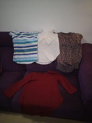 4 Camisetas talla S