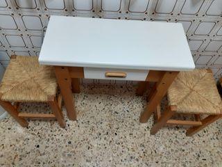 Mesa cocina + 2 banquetas de regalo OFERTA