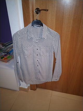 camisa larga talla S