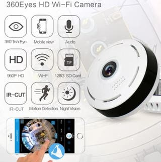 camara seguridad vision 360 grados
