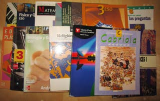 Lote libros ESO secundaria primaria 1993-2003