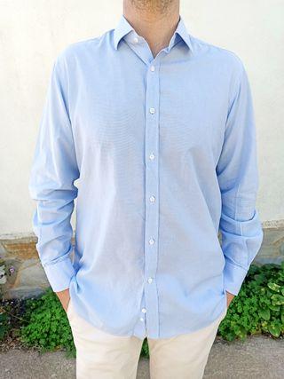 Camisa azul Massimo Dutti