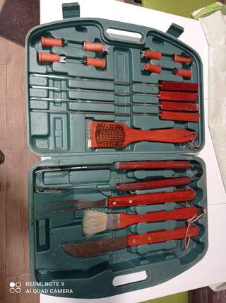 maletín 18 piezas barbacoa