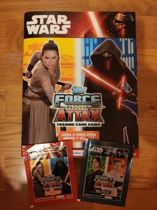 ALBUM COMPLETO STAR WARS FORCE ATTAX TOPPS