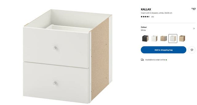 Shelving unit with doors and drawers
