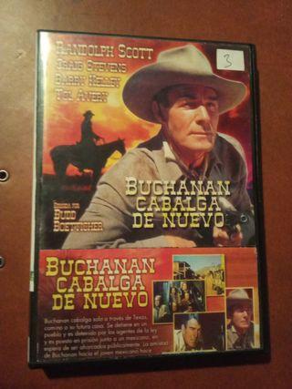 DVD pelicula Oeste. Buchanan cabalga de nuevo
