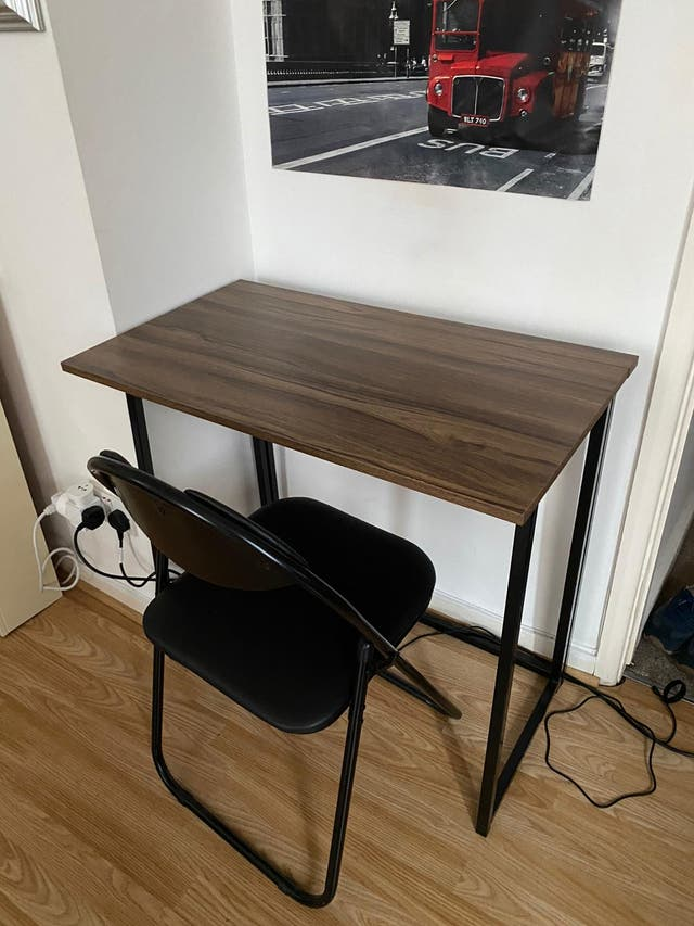 Folding computer office desk