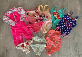 Bañadores bikinis niña talla 3-4 años + regalo