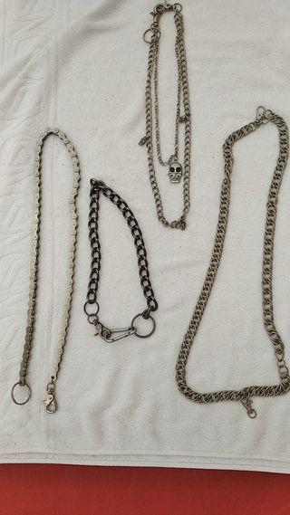 Lote 4 llaveros cadenas