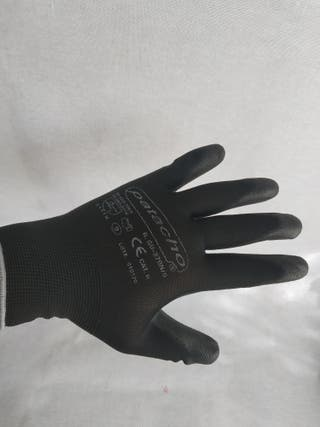 liquidación guantes nylon latex talla 8