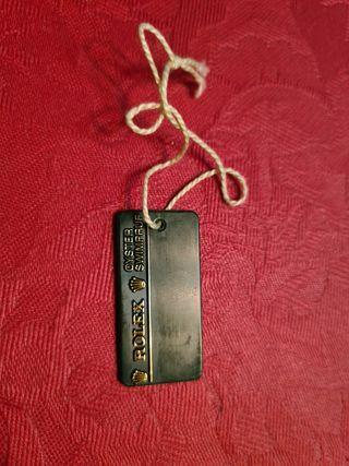 Etiqueta sello Rolex de reloj ref.