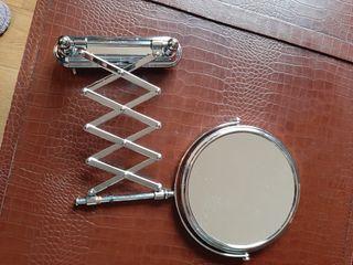 Espejo de aumento con soporte extensible