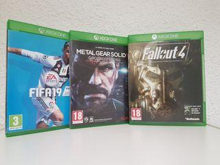 Lote 3 videojuegos XBOX ONE