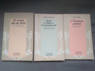 3 Libros Literatura Catalana