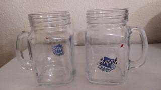 jarra taza cristal