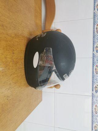 casco negro mate talla xs
