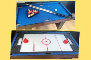 Juegos de mesa Billar+Hockey