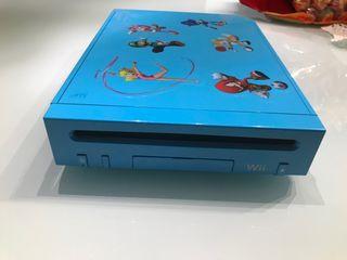 Wii edicion exclusiva Blue Edition + mando y juego