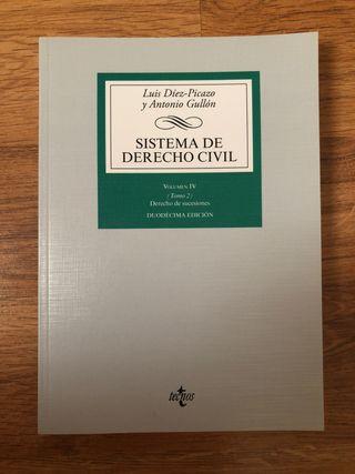 Sistema de Derecho Civil (Dcho. Sucesiones) Ed. 12