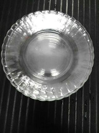 Lote 8 platos Duralex transparentes