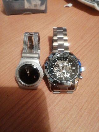reloj de mujer swatch y reloj de hombre