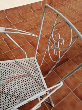 4 sillas de hierro para terraza