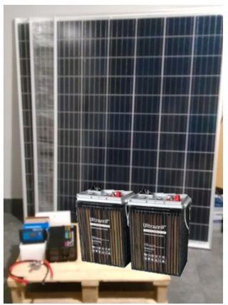 KIT SOLAR BEST, 3 Placas de 200W, 2 Baterías 600A