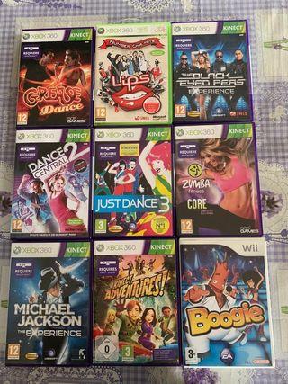 Lote 8 Videojuegos Xbox 360 + 1 de WII