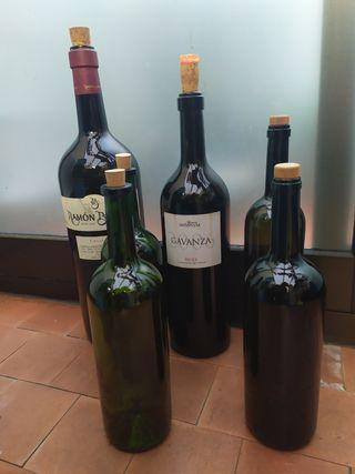6 Botellas vacías