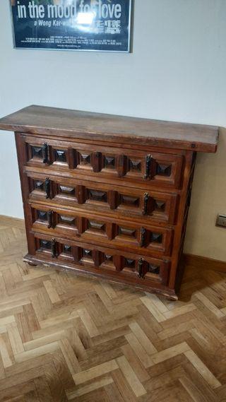 cajonera cómoda mueble antiguo rústico