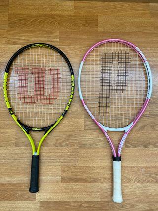 Pack de raquetas de tenis