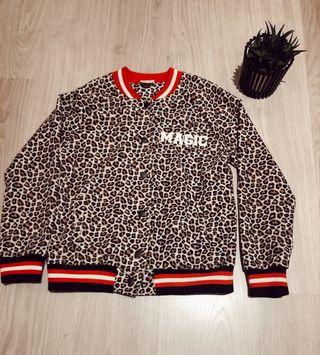 Chaqueta leopardo de Zara de niña