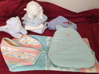 Mantas bebe+Saccos+almohada peluche+peluche