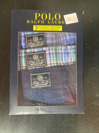 Pack 3 boxer tela Ralph Lauren talla S