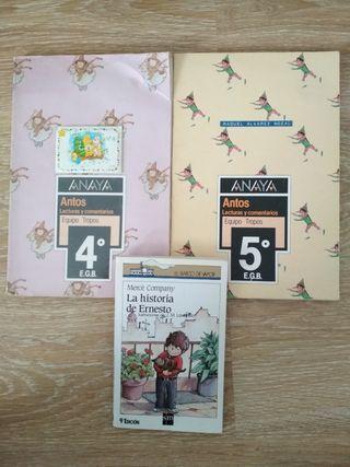 Libros E.G.B. Anaya Antos y Barco de Vapor