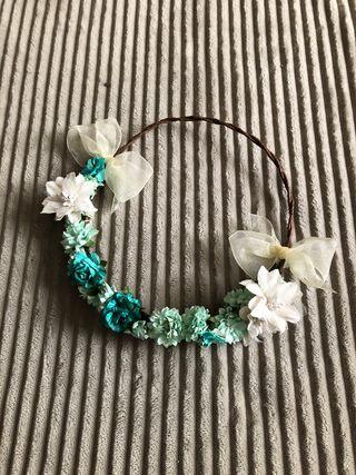 Corona de flores ceremonia, arras, comunión